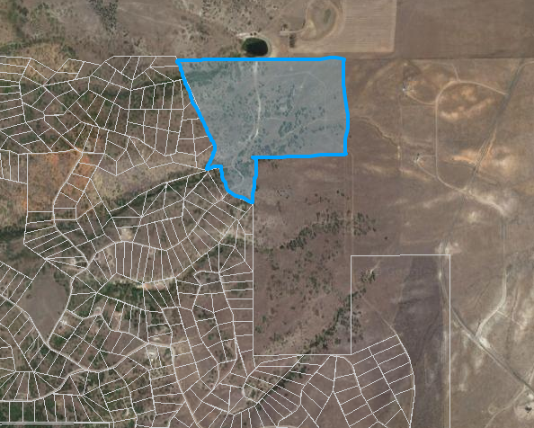 74 Acres on the NE corner of Indian Ridge that could be developed into 5 acre lots