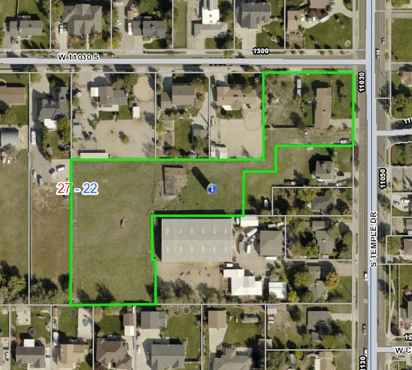 2.54 Acres in Prime South Jordan Area Ready to Develop with 3200′ home